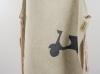Natural Linen Bib Apron with Scooter Applique