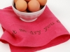 Pink Linen Tea Towel - Here, Let Me Dry You Off!