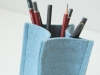 Natural Wool Felt Pencil Holder