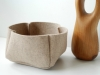 Natural Wool Felt Basket