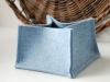 Natural Wool Blue Felt Basket